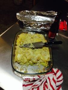 patate oignons, brie, coconut